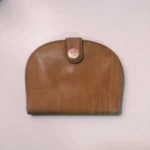 Fendi Clamshell Leather Wallet